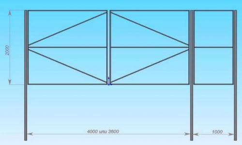 Калитка из сетки-рабицы. Последовательность установки калитки из сетки-рабицы