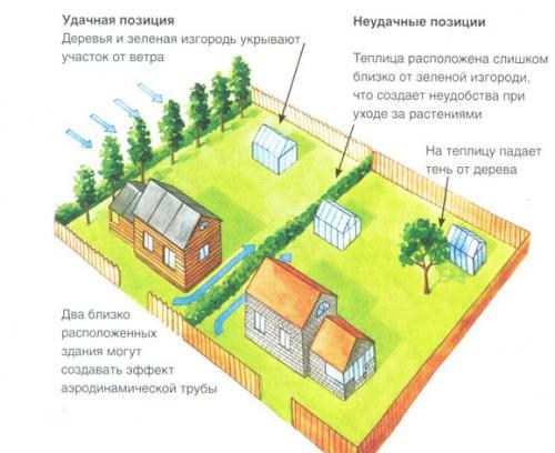 Как правильно выбрать теплицу из поликарбоната. №2. Где поставить теплицу?